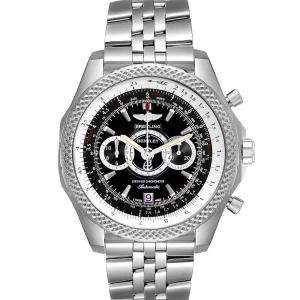 Breitling Black Stainless Steel Bentley Supersports Chronograph Limited Edition A26364 Men's Wristwatch 49 MM