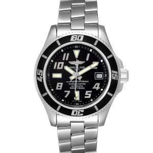 Breitling Black Stainless Steel Superocean A17364 Men's Wristwatch 42 MM