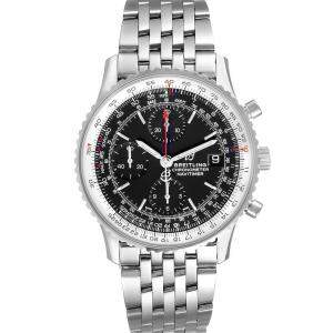 Breitling Black Stainless Steel Navitimer Heritage A13324 Men's Wristwatch 42 MM