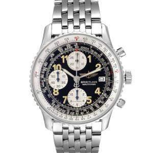 Breitling Black Stainless Steel Navitimer II A13022 Men's Wristwatch 41.5 MM