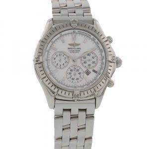 Breitling Silver Stainless Steel Shadows Flyback Chronograph Automatic Men's Wristwatch 39 MM