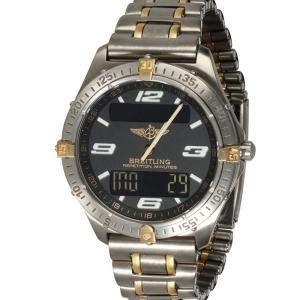 Breitling Black 18K Yellow Gold And Titanium Aerospace F65062 Men's Wristwatch 40 MM