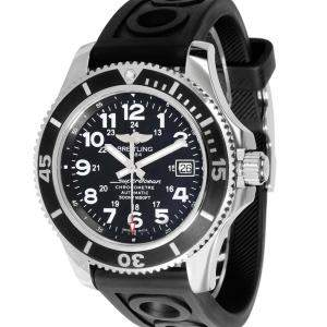 Breitling Black Stainless Steel SuperOcean II A17365C9/BD67 Men's Wristwatch 42 MM