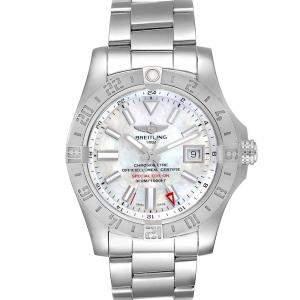 Breitling MOP Stainless Steel Aeromarine Avenger II GMT A32390 Men's Wristwatch 42 MM