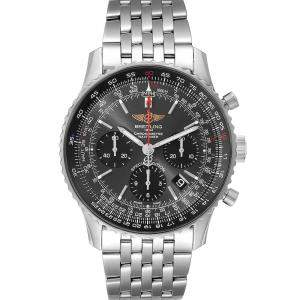 Breitling Grey Stainless Steel Navitimer 01 Limited Edition AB0121 Men's Wristwatch 42 MM