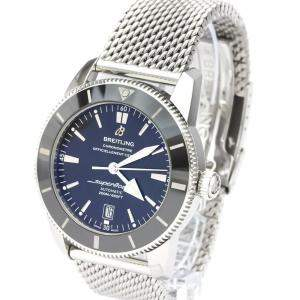 Breitling Black Stainless Steel Superocean Heritage II AB2020 Automatic Men's Wristwatch 46 MM