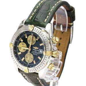 Breitling Green 18K Yellow Gold And Stainless Steel Chronomat Evolution B13356 Men's Wristwatch 44 MM