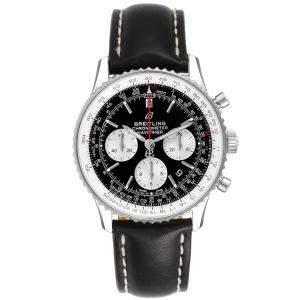 Breitling Black Stainless Steel Navitimer 01 AB0121 Men's Wristwatch 43 MM
