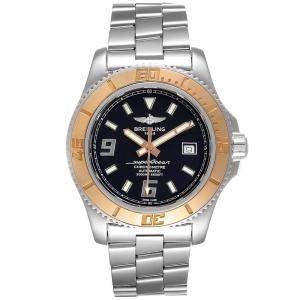 Breitling Black 18K Rose Gold And Stainless Steel Superocean C17391 Men's Wristwatch 44 MM