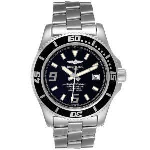ساعة يد رجالية بريتلينغ ايرومارين سوبر أوشن A17391 ستانلس ستيل سوداء 44 مم