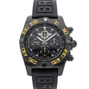 ساعة يد رجالية بريتلينغ كرونومات جيت تيم MB01109P/BD48 إصدار محدود فولاذ أسود سوداء 44مم