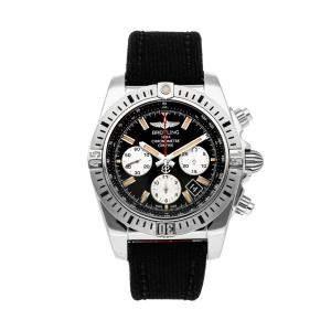 ساعة يد رجالية بريتلينغ كرونومات أيربورن AB01154G/BD13 ستانلس ستيل سوداء 44مم