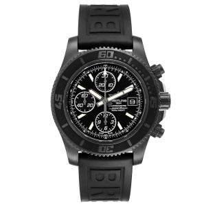 ساعة يد رجالية بريتلينغ سوبر أوشن  II M13341  بي في دي سوداء 44مم