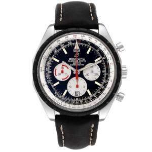 Breitling Black Stainless Steel Navitimer Chronomatic A14360 Men's Wristwatch 49 MM