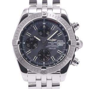 Breitling Black Stainless Steel Chronomat Evolution A13356 Automatic Men's Wristwatch 42 MM