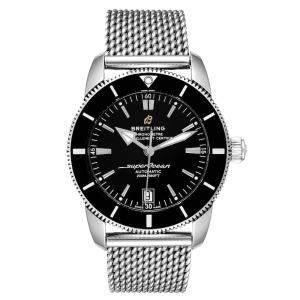 Breitling Black Stainless Steel Superocean Heritage II AB2010 Men's Wristwatch 42 MM