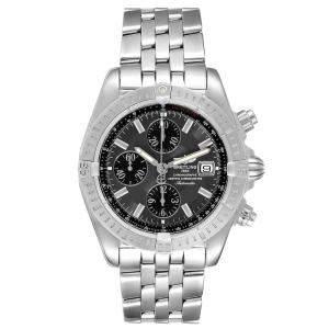 Breitling Grey Stainless Steel Chronomat Evolution A13356 Men's Wristwatch 43 MM