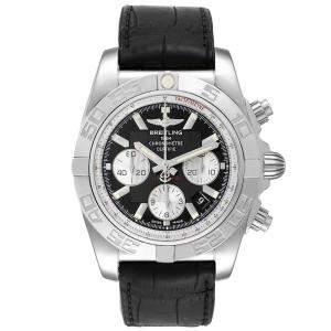 Breitling Black Stainless Steel Chronomat 01 AB0110 Men's Wristwatch 43.5 MM