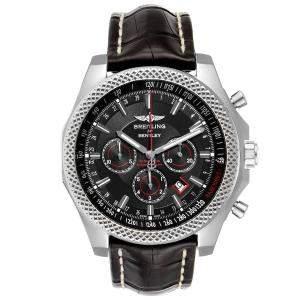 Breitling Black Stainless Steel Bentley Barnato A25368 Men's Wristwatch 49 MM