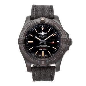 Breitling Black Titanium Avenger Blackbird V1731010/BD12 Men's Wristwatch 48 MM