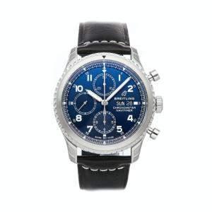 Breitling Blue Stainless Steel Navitimer 8 Chronograph A13314101C1X1 Men's Wristwatch 43 MM