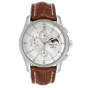 Breitling Silver Stainless Steel Bentley Mark VI Complications P19362 Men's Wristwatch 42 MM