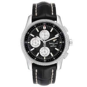 Breitling Black Stainless Bentley Mark VI Complications P19362 Men's Wristwatch 42 MM