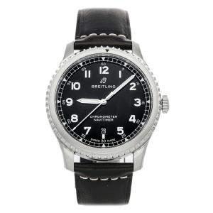 ساعة يد رجالية بريتلينغ نافي تايمر 8 A17314101B1X1 سوداء 41 مم