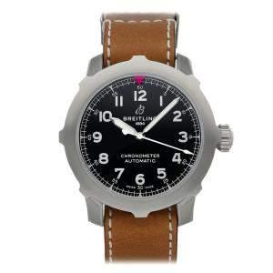 ساعة يد رجالية أفياتور نافي تايمر سوبر 8 B20 AB2040101B1X1 ستانلس ستيل سوداء 46 مم