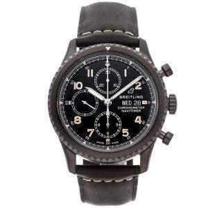 ساعة يد رجالية بريتلينغ نافي تايمر 8 كرونوغراف M13314101B1X1 ستيل أسود سوداء 43مم