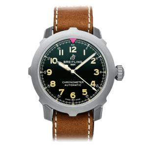 Breitling Black Titanium Aviator Super 8 B20 EB2040101L1X1 Men's Wristwatch 46 MM