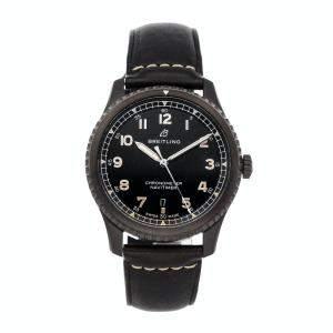 ساعة يد رجالية بريتلينغ نافي تايمر 8 M17314101B1X1  ستيل أسود سوداء 41 مم