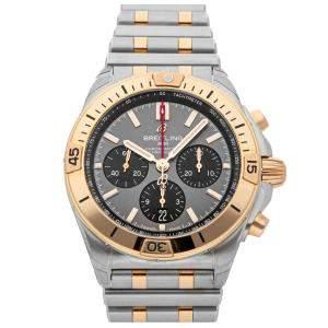 Breitling Grey 18K Rose Gold and Stainless Steel Chronomat B01 UB0134101B1U1 Men's Wristwatch 42 MM