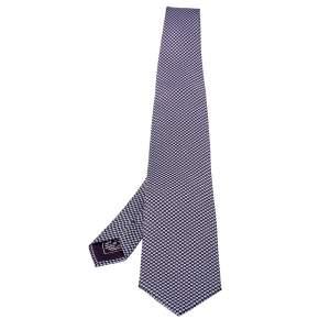 ربطة عنق بريوني تراديشنال حرير مطبوعة بنفسجية