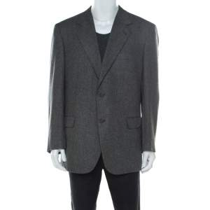 Brioni Grey Cashmere Regular Fit Classic Tailored Blazer 4XL