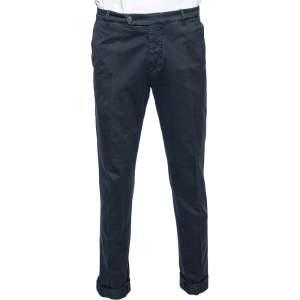 Brunello Cucinelli Dyed Blue Cotton Pants M