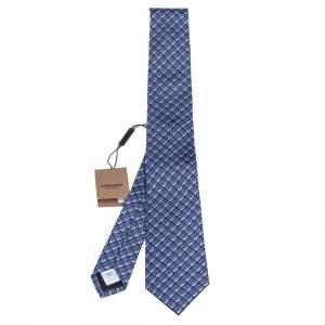 Burberry Pebble Blue Monogram Manston Silk Tie