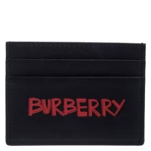 Burberry Black Leather Sandon Card Holder