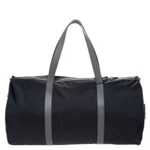 حقيبة بربري كندي دوفل كبيرة نايلون بيج/ سوداء
