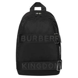 Burberry Black Nylon and Leather Large Logo Backpack