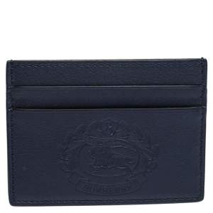 Burberry Navy Blue Leather Sandon Card Holder