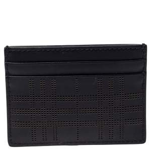 Burberry Black Leather Sandon Card Holder