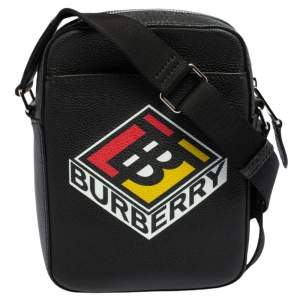 Burberry Black Leather Thornton Crossbody Bag
