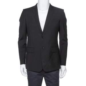 Burberry London Black Wool Blazer M