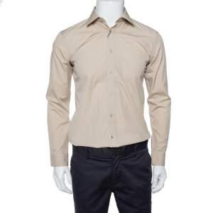 Burberry Stone Stretch Cotton Long Sleeve Shirt S