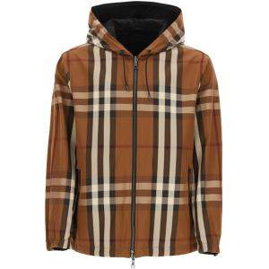 Burberry Dark Brown/Brown Reversible Hooded Jacket Size XL