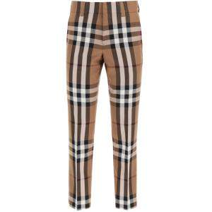 Burberry Brown House Check tailored Trousers Size EU 46