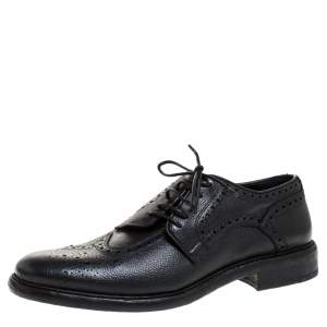 Burberry Black Brogue Leather Rayford Wingtip Derby Size 43