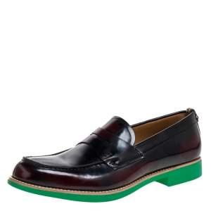 حذاء لوفرز بربري سليب أون اميلي بني جلد لونين مقاس 45