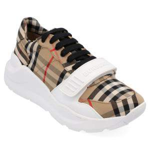 Burberry Check Canvas Regis Chunky Sneakers Size EU 44.5